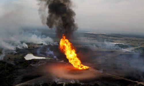 Pipeline explosion.