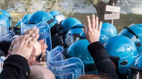 No-TAP protests, Southern Italy.