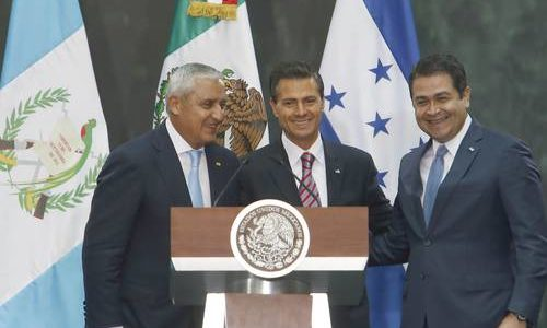 Presidents announce pipeline plans. México, Guatemala y Honduras, por un gasoducto para la región centroamericana. La Jornada, 14 March 2015.